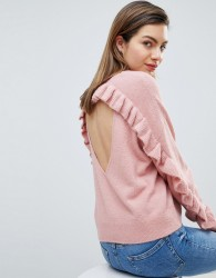 Ivyrevel Jumper with Frill Back Detail - Pink