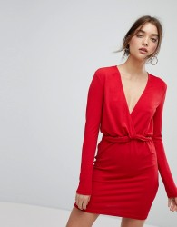 Ivyrevel Long Sleeved Dress With Ruffle Waist - Red
