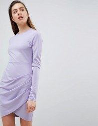Ivyrevel Long Sleeved Jersey Dress with Wrap Front - Purple