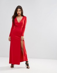 Ivyrevel Maxi Dress With Slit Front - Red