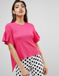 Ivyrevel Open Back Frill Top - Pink