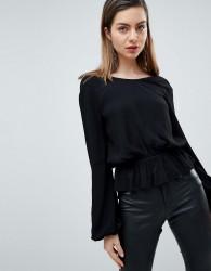 Ivyrevel Open Back Top with Soft Pephem - Black