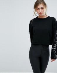 Ivyrevel Sweat With Embellished Sleeves - Black