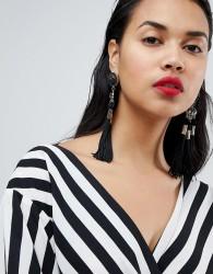 Ivyrevel Tassel Beaded Earrings - Black