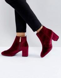 Ivyrevel Velvet Heeled Ankle Boot - Red