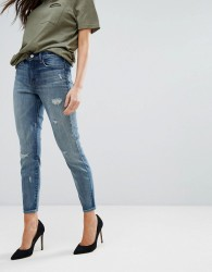 J Brand Alana High Rise Cropped Ripped Skinny Jeans - Grey