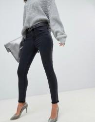 J Brand Alana washed black high rise crop skinny jean with raw hem - Black
