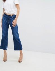J Brand Joan High Rise Wide Leg Crop Jeans - Blue