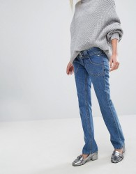 J Brand x Bella Freud Low Rise Straight Leg Jean - Black