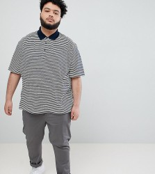 Jacamo Polo In Feeder Stripe - White