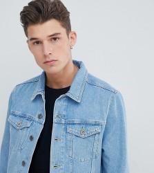 Jacamo TALL Stone Wash Denim Jacket - Blue