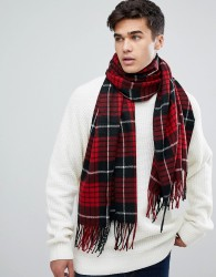 Jack & Jones Checked Scarf - Black