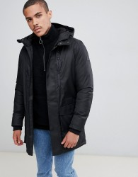 Jack & Jones Core all weather parka with taped seams - Black