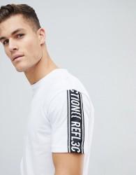 Jack & Jones Core Boxy Fit T-Shirt With Sleeve Slogan - Black