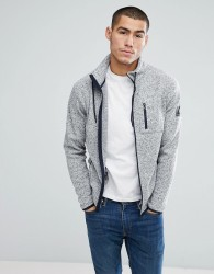 Jack & Jones Core Fleece Sweat Jacket - Grey