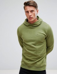 Jack & Jones Core Hoodie With High Neck And Pocket Details - Grey