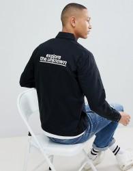 Jack & Jones Core Jacket With Back Print - Black