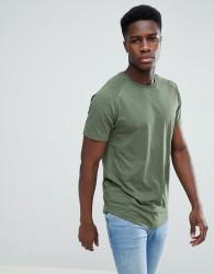 Jack & Jones Core Longline T-Shirt With Curved Hem - Green