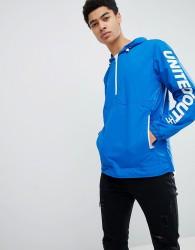 Jack & Jones Core Over Head Jacket With Sleeve Branding - Blue
