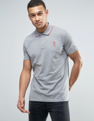 Jack & Jones Core Short Sleeve Polo Shirt with Contrast Tipping - Grey