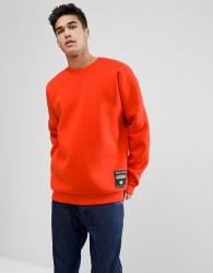 Jack & Jones Core Sweatshirt With Drop Shoulder In Neoprene Jersey - Red