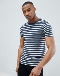 Jack & Jones Essentials Stripe T-Shirt - Navy