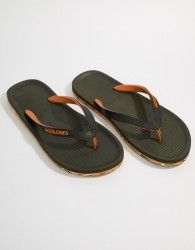 Jack & Jones Flip Flops With Moulded Sole - Green