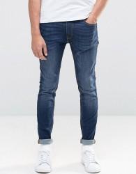 Jack & Jones Intelligence Skinny Jeans in Mid Blue Wash - Black