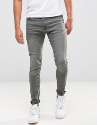 Jack & Jones Intelligence Skinny Jeans in Washed Grey - Grey