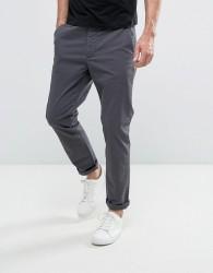 Jack & Jones Intelligence Slim Fit Chino in Stretch Cotton - Grey