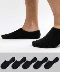 Jack & Jones Invisible Socks 5 Pack - Black