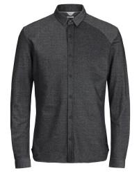 Jack & Jones jcochase 12127414 shirt LS (Sort, SMALL)