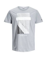 Jack & Jones Jcokonrad tee ss 12123113 (Lysegrå, MEDIUM)