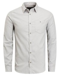 Jack & Jones kris shirt Ls (LYSEGRÅ, SMALL)
