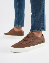 Jack & Jones Lace Up Trainers - Brown