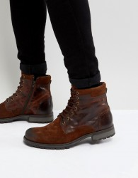 Jack & Jones Leather Boots - Brown