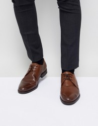 Jack & Jones Leather Derby Shoes - Brown