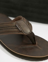 Jack & Jones Leather Sandal - Brown
