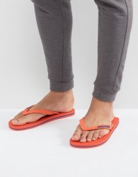 Jack & Jones Logo Flip Flops - Orange