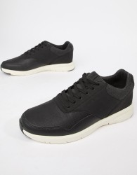 Jack & Jones Mixed Panel Trainers - Black