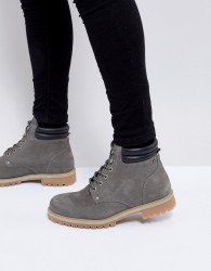 Jack & Jones Nubuck Boots - Grey