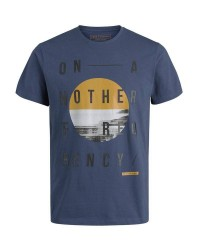 Jack & Jones Octupus 12128850 tee ss (Mørkeblå, SMALL)