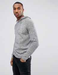 Jack & Jones Originals Knitted Hoodie - Grey