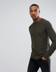 Jack & Jones Originals Knitted Jumper Cotton Rib - Green