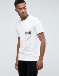 Jack & Jones Originals T-Shirt with Photo Print Pocket - White
