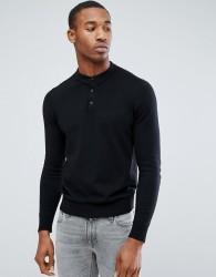 Jack & Jones Premium Knitted Polo - Black