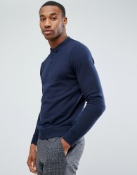 Jack & Jones Premium Knitted Polo - Navy