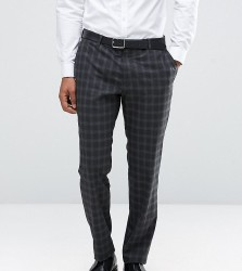 Jack & Jones Premium Skinny Suit Trouser in Check - Grey