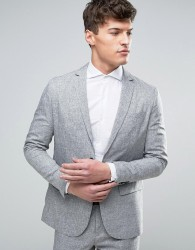 Jack & Jones Premium Slim Suit Jacket in Salt and Pepper - Grey