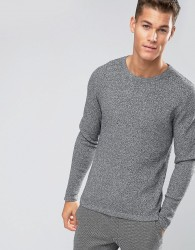 Jack & Jones Premium Slim Textured Knit - Grey